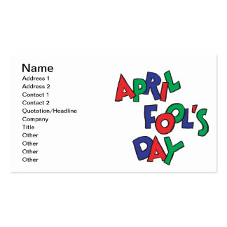 April Fools Day Business Card Templates
