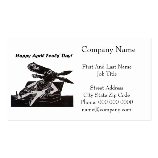 April Fools' Day Funny Donkey Cartoon Business Card Templates
