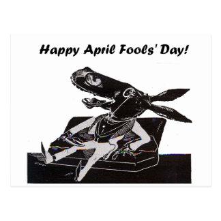 April Fools' Day Funny Donkey Cartoon Postcard