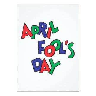 """April Fools Day 5"""" X 7"""" Invitation Card"""