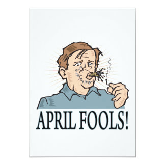 "April Fools 5"" X 7"" Invitation Card"