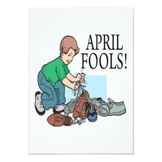 April Fools 13 Cm X 18 Cm Invitation Card