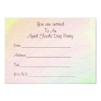 April Fools - 11 Cm X 16 Cm Invitation Card
