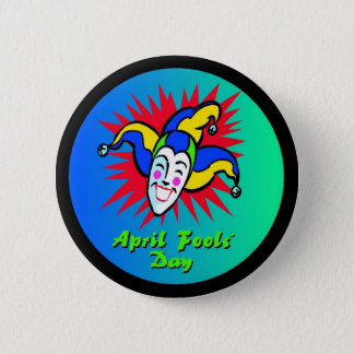 April Fool's Jester 6 Cm Round Badge