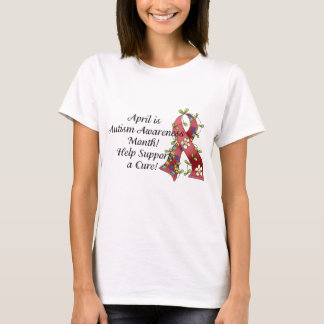 April is Autism Awareness Month Women's Baby Doll T-Shirt