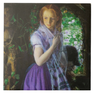 April Love by Arthur Hughes Large Square Tile