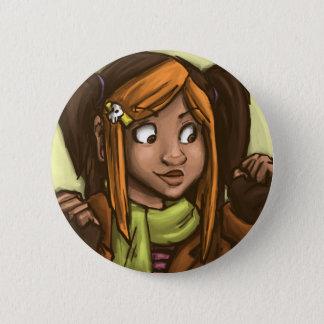 April muse 6 cm round badge