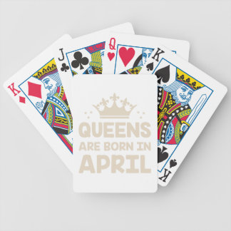 April Queen Bicycle Playing Cards