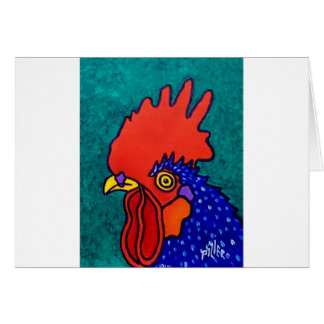 April Rooster Card