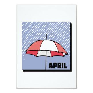 April Showers 13 Cm X 18 Cm Invitation Card