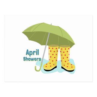 April Showers 2 Post Cards