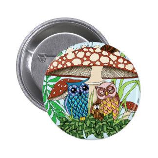 April Showers 6 Cm Round Badge