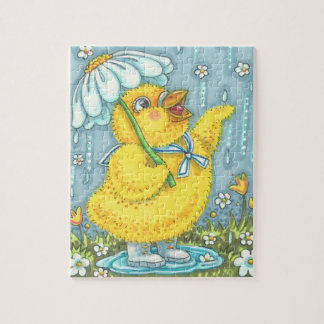 APRIL SHOWERS BABY CHICK, SPRING EASTER PUZZLE