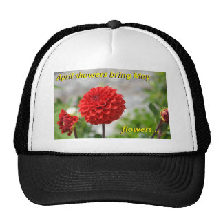 April showers bring May flowers. Mesh Hat