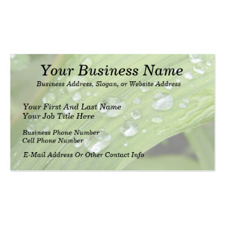 April Showers Business Card Template