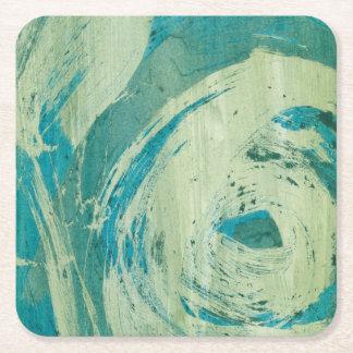 April Showers II Square Paper Coaster