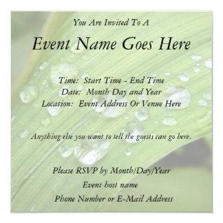 "April Showers 5.25"" Square Invitation Card"