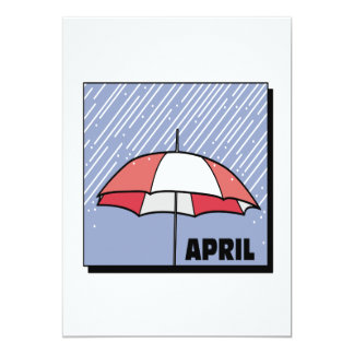 April Showers 5x7 Paper Invitation Card