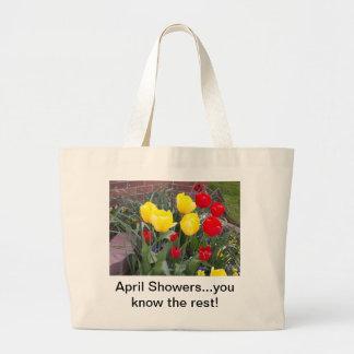 April showers... jumbo tote bag