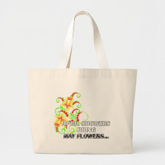 April Showers - Jumbo Tote Bag