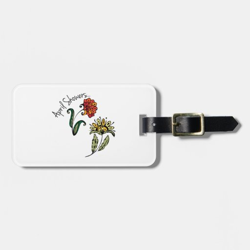 April Showers Luggage Tag