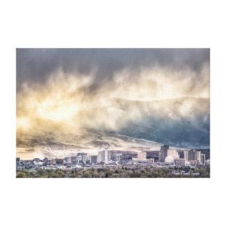 April Showers over Reno Nevada Canvas Print