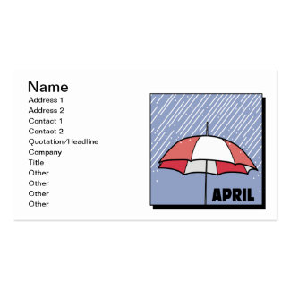 April Showers Pack Of Standard Business Cards