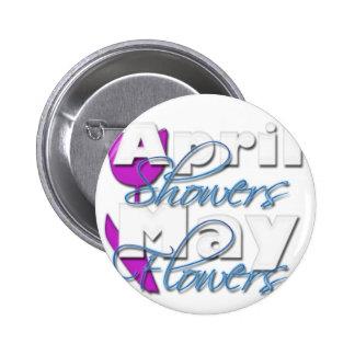 April Showers Pinback Button