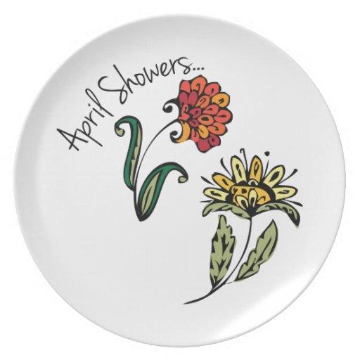 April Showers Plate
