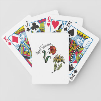 April Showers Bicycle Playing Cards