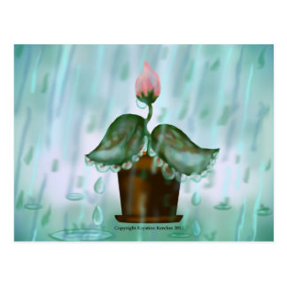 April Showers Post Card