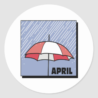 April Showers Round Sticker