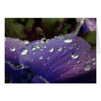 April spring showers on these flowers greeting card
