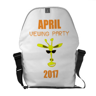April The Giraffe April Viewing Party 2017 Courier Bag
