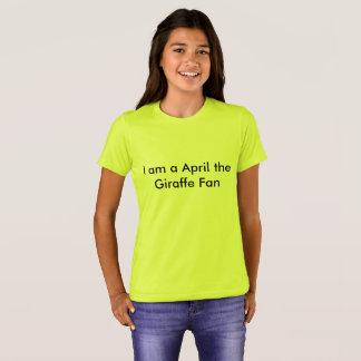 April the Giraffe Fan T-Shirt