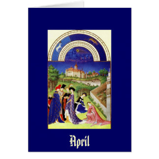 April -the Tres Riches Heures du Duc de Berry Card