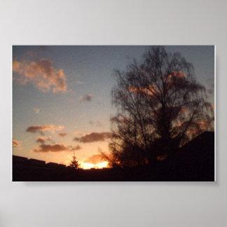 April weather sundown poster
