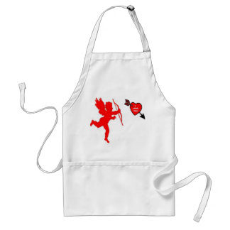 Apron Cupid and Heart Red