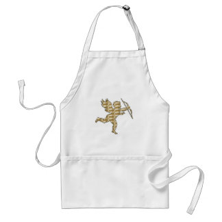 Apron Cupid Gold Ribbed
