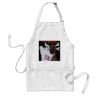 Apron German Shepherd Halloween Boo