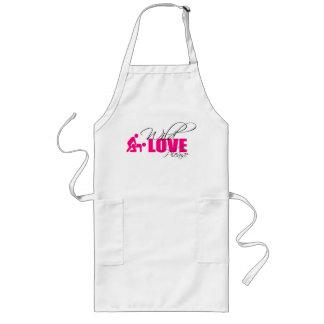 """Apron/Kitchen apron - """"wild love please """""""