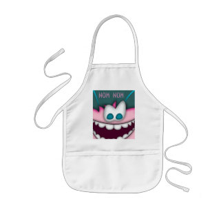 Apron Pink Pal NOM Customizable Cooking BBQ
