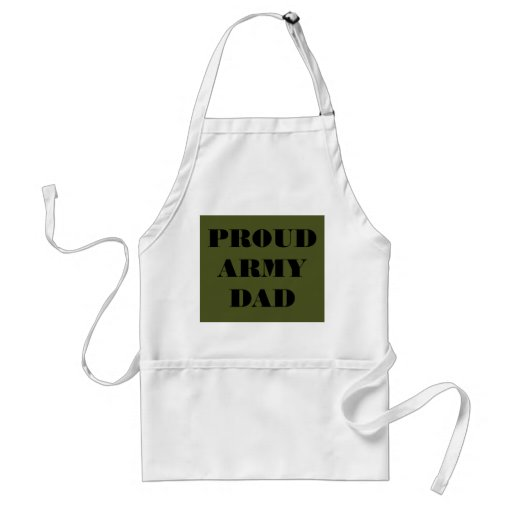 Apron Proud Army Dad