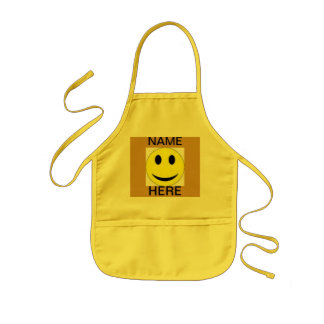 APRON SMILEY FACE KIDS CRAFT APRON FOR SCHOOL