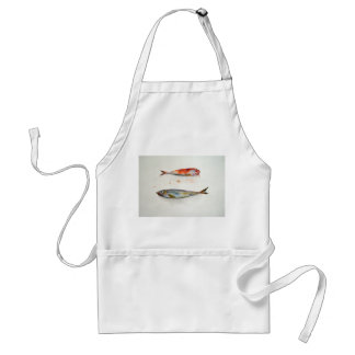 Apron with fish in watercolor