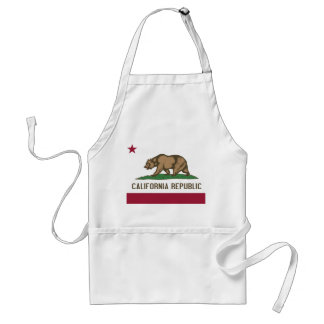 Apron with Flag of California, U.S.A.