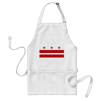 Apron with Flag of Washington DC, U.S.A.