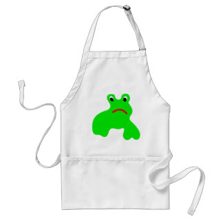 Apron with frog