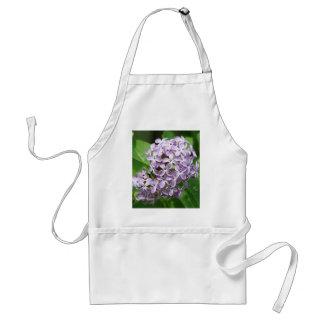 apron with photo of beautiful purple lilacs