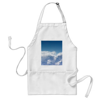 Apron with photo of snowy mountaintop